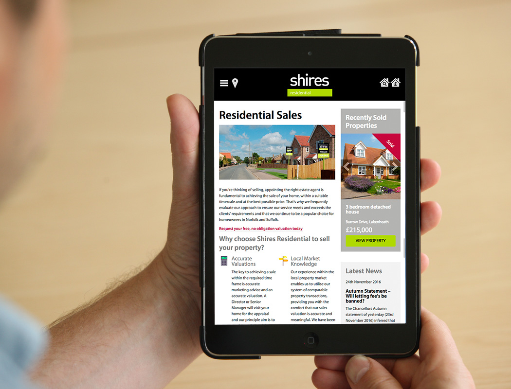 Shires Residential Website