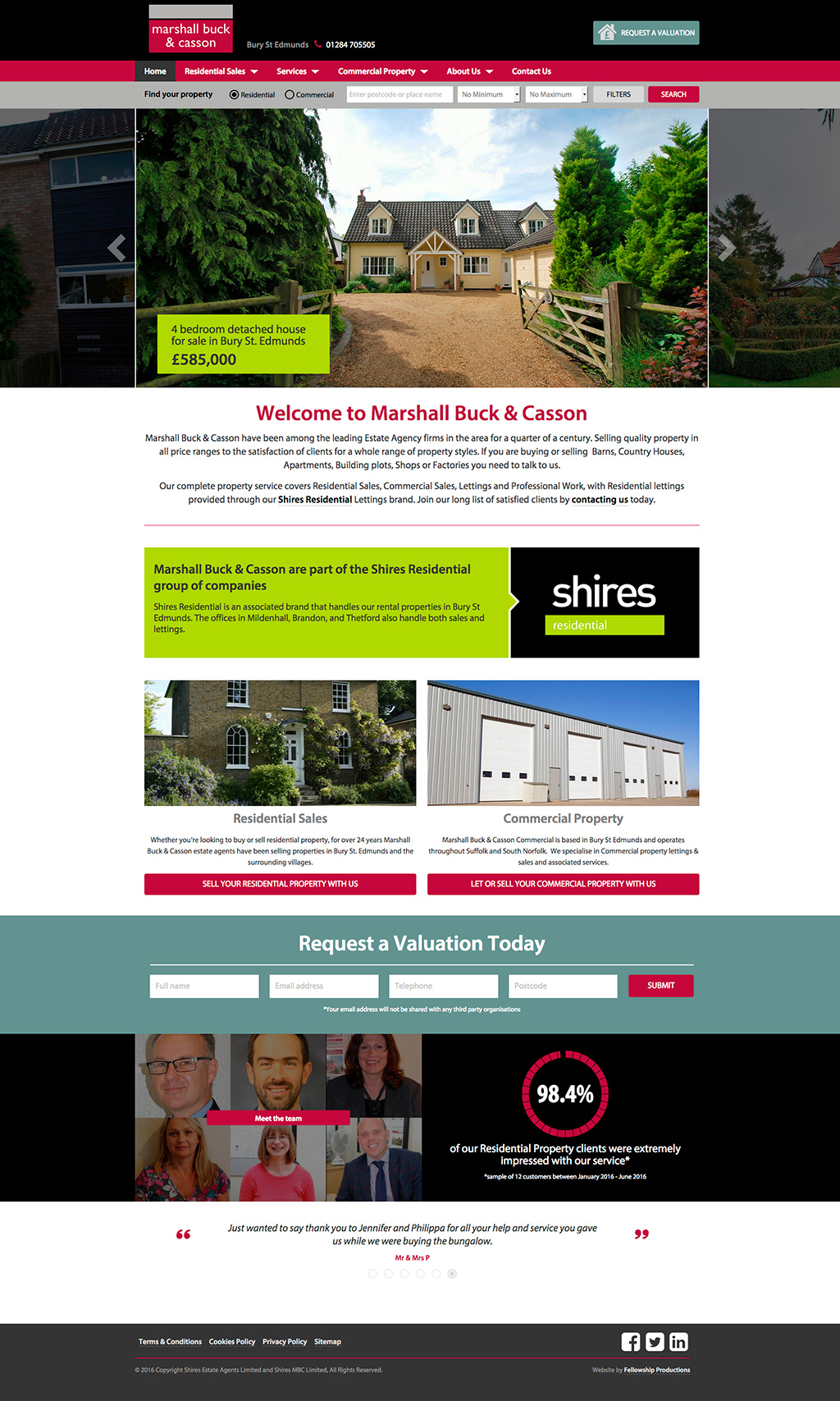 Marshall Buck & Casson Website