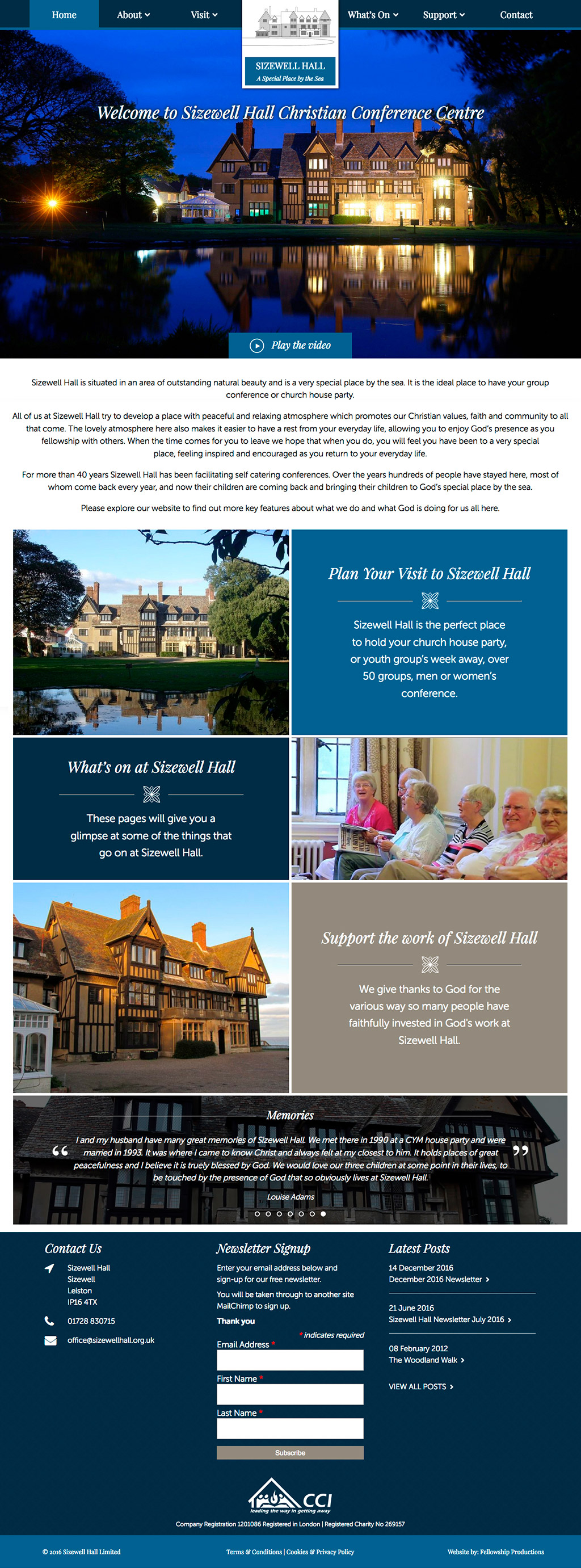 Sizewell Hall Website